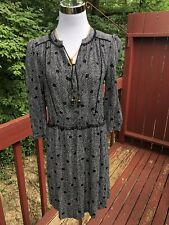NEW Anthropologie Size XS MAEVO Long Sleeve Polka-dotted Black And White Dress