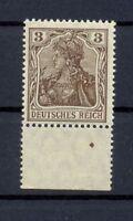 DR 84 II b Germania 3 Pfg. schwärzlichbraun postfrisch tiefst geprüft (or37)