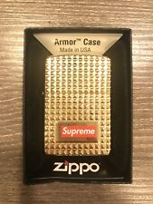 Supreme Diamond Cut Zippo golden 2017