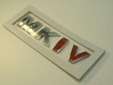 VW GOLF GTI MK4 mk1v CROMATO POSTERIORE ROSSA AUTO avvio Badge Retrò Classic Polo Jetta Fox