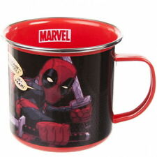OFFICIAL MARVEL COMICS DEADPOOL ENAMEL COFFEE MUG CUP NEW IN GIFT BOX