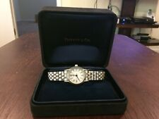 Tiffany & Co. Women's Panther Link Stainless Steel Numeral Quartz Date Watch