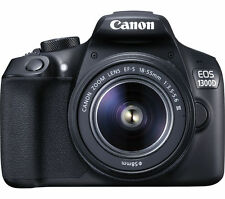 NEW CANON EOS 1300D DSLR CAMERA WITH 18-55 MM F/3.5-F5.6 ZOOM LENS BLACK 18MP
