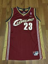 KIDS LARGE - Vtg NBA Cleveland Cavaliers #23 LeBron James Nike Sewn Jersey