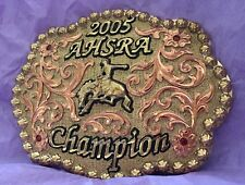 VTG *2005 AHSRA CHAMPION* WESTERN RODEO COWBOY TROPHY BELT BUCKLE-By Dale Chavez