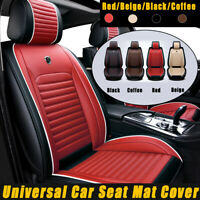 PU Leather Car Seat Covers Mat Cushion Pad Breathable Set Universal Red/Brown
