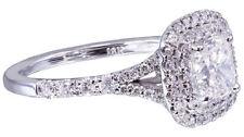 Cushion White Gold SI1 18k Diamond Engagement Rings
