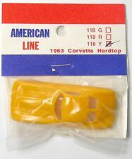 1990 American Line 1964 Chevy Corvette T-jet Thunderjet mount Slot Car BODY 118Y