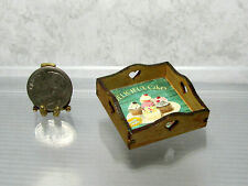 Dollhouse Miniature Square Wood Tray with Cupcake Theme Base