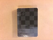 RARE JEU DE CARTES LOUIS VUITTON A DAMIERS NOIRS / 52 CARTES / NEUF SOUS CELLO