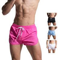 Men's Solid Board shorts Beachwear Gay fitness shorts