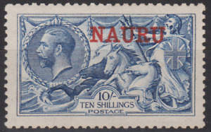 Nauru 1916/23 Mint Mounted 10/- Blue SG ??