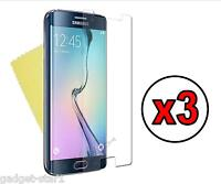 3x HQ CRYSTAL CLEAR SCREEN PROTECTOR COVER FILM GUARD FOR SAMSUNG GALAXY S6 EDGE