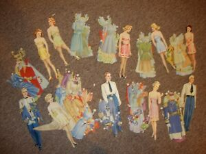 Military Wedding paper dolls from 1943
