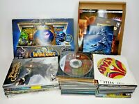 Huge Lot Of 26 PC CD/ROM Video Games Windows Untested As Is WoW Sims Jewel Quest
