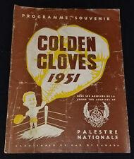 1951 - BOXING / BOXER - GOLDEN GLOVES - MONTREAL, QUEBEC, CANADA - PROGRAM