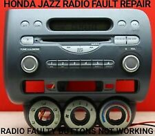HONDA JAZZ STUCK ON RADIO BUTTONS NOT WORKING CAR STEREO REPAIR SERVICE WARRANTY