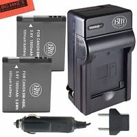NB-8L Battery Charger for Canon Powershot A2000 A3000 A3100 A3150 A3200 A3300 IS