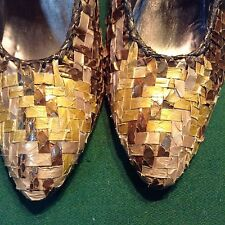 Beautiful & Different!! Claudio Merazzi Snakeskin Leather Shoes Pumps Heels 6.5