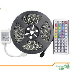 Black PCB Led Strip 5050 RGB + 44key controller 5M 300 leds flexible Waterproof
