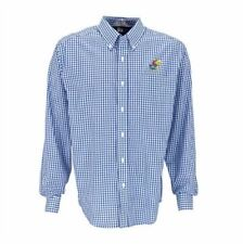 NEW Kansas Jayhawks Mens Associate Button-Down Dress Shirt Antigua Blue 2XL