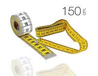 Maßband gelb 150 cm //60 Zoll 1 Rollbandmaß Schneidermaßband Schneider-Maß 0216