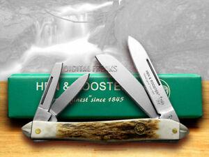 Hen & Rooster Whittler Knife Genuine Deer Stag Stainless Pocket Knives 234-DS