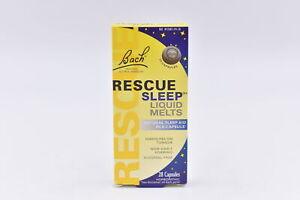 Bach Rescue Sleep Liquid Melts Homeopathic Sleep Aid, 28ct, EXP: 04/2023