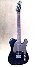 Black Fender Squire Telecaster with Humbucker, Single Coil & Chrome Hardware