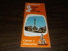 SONORA BAJA RAILWAY MEXICO PUBLIC TIMETABLE SPANISH EDITION