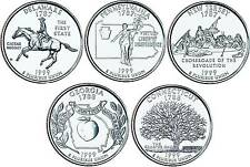 1999 US State Quarters Five Uncirculated Straight from mint US Mint
