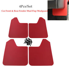 4PCS Car Pickup Trucks Front+Rear Fender Mud Flaps Mudguards Splash Guards Red