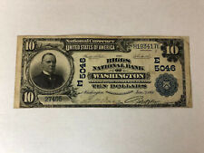 1902 Note - $10 The Riggs National Bank of Washington DC