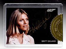 2015 JAMES BOND  ARCHIVES 6 case incentive Britt Ekland  GOLD auto card