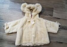 Bearington Baby Collection Soft Mink Couture Coat 6-12 Months Bear Teddy Soft