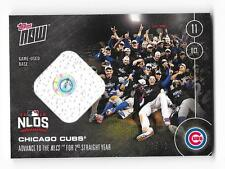 Chicago Cubs 2016 Topps Now Game Used Base Relic Advance to NLCS Serial #'d /99