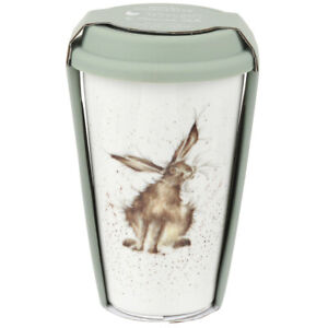 Wrendale Travel Mug Good Hare Day Hare Fine Bone China from Royal Worcester
