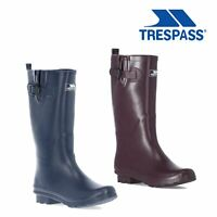 Trespass Womens Wellies Waterproof Rain Navy Purple Wellington Boots Damon