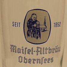 bayern obernsees maisel altbräu toll erhaltener bierbecher o,25 l eichung