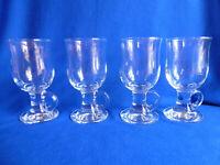 Clear Glass Pedestal Irish Coffee Mugs ( Set of 4 ) # 379