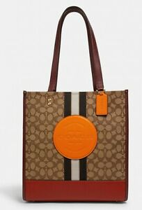 NWT Coach 1917 Dempsey Carryall In Signature Jacquard With Stripe & Coach Patch