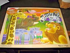 MELISSA & DOUG 24 PC WOODEN ANIMAL PUZZLE - NEW WITH CELLOPHANE