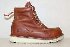 "Timberland PRO Mens 6"" Wedge Soft Toe Work Boots Sz 9.5 M Brown Leather"