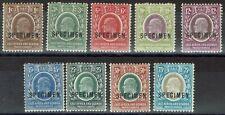 EAST AFRICA AND UGANDA 1907 KEVII SPECIMEN SET