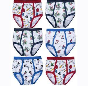 3 6 12 Boy's Soft Cotton Briefs Cartoons Designs NEW Underwear S~XL