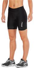 "New 2Xu Women Perform 7"" Tri Shorts Black Wt4861b Swim Ride Run Triathlon Small"