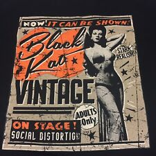 Black Kat 2XL T-shirt On Stage Social Distortion Stark Realism Adults Only