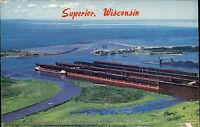 Superior Wisconsin USA Amerika ~1960/70 Blick auf die Docks Schiff Panorama