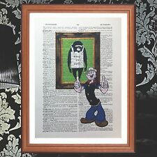 Popeye Vs Banksy dictionary page quote art print - present gift  print book