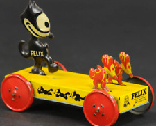 Vintage German Tin Nifty Felix The Cat Chasing Mice